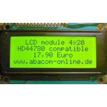LCD module 4x20 characters, green